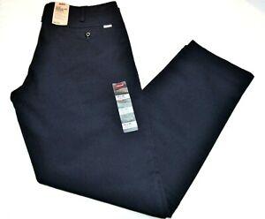 Homme Levi's 502 Bleu Marine Standard Conique Chino Stretch Pantalon - 98% Coton
