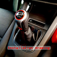 6 Speed Gear Shift Knob with Boot Cover For VW Volkswagen Golf 6 MK5 MK6 Durable