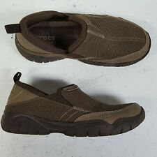 Crocs Swiftwater Brown Mesh Moc Shoes Loafers 202548 Men Size 7 M