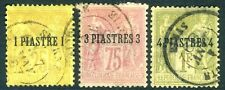 French po en turc Empire - 1885 Lot de 3 valeurs SG 1-3