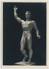 "Arno Breker ""DER KÜNDER"" Male Nude / Männer Akt * Vintage 1930s RPPC Gay Int"