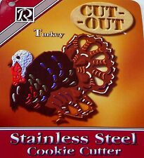"7"" Cookie Cutter Thanksgiving Turkey Stainless Steel Cut-Out ~ BIG & BEAUTIFUL!"
