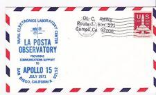 APOLLO 15 LA POSTA OBSERVATORY CAMPO, CA JULY 26 1971