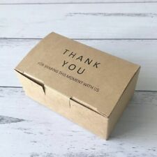 20 Kraft Paper Thank You Favor Box Gift Box for Wedding Party Christening Shower