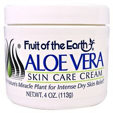 Aloe Vera Skin Care Cream With collagen, elastin 4 oz (113 g) Fruit of the Earth