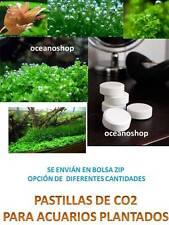 Pastillas de CO2 20 unidades para crecimiento de plantas en acuario se reduce ph