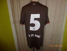 "FC St.Pauli Original U23 Matchworn Trikot 2013/14 ""ohne Sponsor"" + Nr.5 Gr.M"