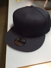NEW ERA, NAVY, Pro Brand 9Fifty 950 BLANK Flat Bill Snapback Hat Cap