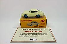 NOREV & ATLAS: DINKY TOYS 182 - PORSCHE 356A COUPE + certificat
