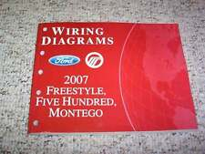 2007 Ford Freestyle Electrical Wiring Diagram Manual SEL Limited 3.0L V6