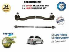 FOR FIAT 500 2007 > 2x INNER & 2x OUTER STEERING TRACK RACK TIE ROD END SET