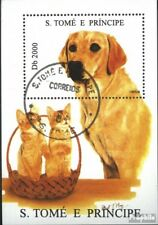 Sao Tome e Principe block332 (complete issue) used 1995 Dogs an