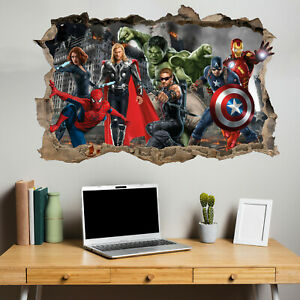 Superheroes Avengers Spiderman Hulk Wall Sticker Art Decal Mural Room Decor 249
