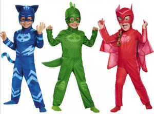 Kinder Karneval Fasching PJ Masks Kostüm Overall Catboy Owlette Gekko Cosplay G1