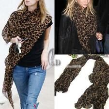 Animal Print Voile Scarves and Wraps for Women