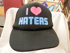 trucker hat baseball cap I love Haters Cool nice Retro Style