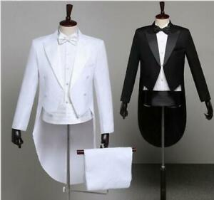 Mens Tuxedo Magic Dress Suit Jacket Formal Tail Coat Pant Dress Jacket Blazer