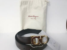 Salvatore Ferragamo - 67 1041/56 Hickory Reversible Leather Belt Size 42
