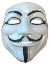 Guy Fawkes Anonymous Plastic Mask Adult Costume Accessory