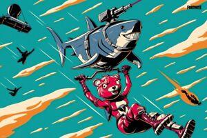 "Fortnite - Gaming Poster / Print (Laser Shark) (Size: 36"" X 24"")"