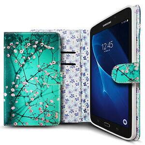 """For Samsung Galaxy Tab 4 SM-T230 7.0"""" Inch Case Tablet Folio Wallet Card Cover"""