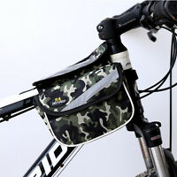 Double Bicycle Cycle Pannier Bag Front Bike Rack Carrier Water Resistant  9147