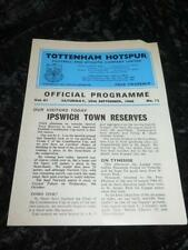 Division 1 Football Programmes with Reserves