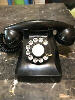Vintage Bel Western Electric Black Rotary Dial Desk Phone F1 Untested Great Deal