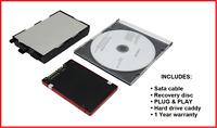 Sata SSD Hard Drive + Caddy + Backup disc Panasonic Toughbook CF-53 • Win XP / 7