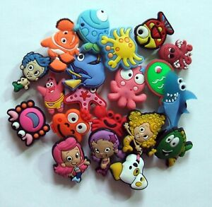 SHOE CHARMS (20MX6) - Mixed Pack of 20, CARTOON CHARACTERS, no duplicates