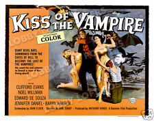 KISS OF THE VAMPIRE LOBBY CARD POSTER HS 1963 CLIFFORD EVANS EDWARD DE SOUZA