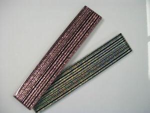Glass Border Tiles Linear Glitter Stripe - 2 Colour Choices - Various Pack Sizes