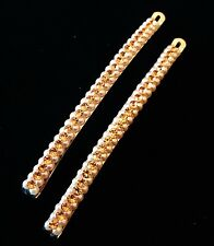 USA Quality Bobby Pin Hair Clip using Swarovski Crystal Hairpin Pearl Long Brown