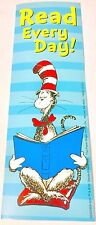 NEW! 24 DR. SEUSS CAT IN THE HAT BLUE READ EVERY DAY BOOKMARKS PARTY REWARDS