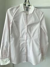 H&M V-neck fitted stretch office work shirt pink EUR sz 34 / Aus 8 BNWOT