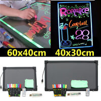 LED Light Up Drawing Writing Board UK Remote Sensory For Child Kid Toy