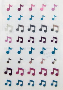 FunMusicOnline Music Themed Music Notes Stickers - Colour