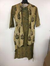 Sabhyata Women's Long Dress Tunic Kurti For Partywear, Chinese Collar, XL, Beige