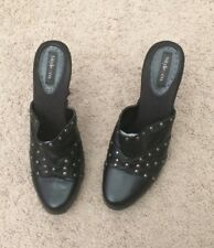 Style & Co Black Studded High Heels Mules Sz 8.5 M