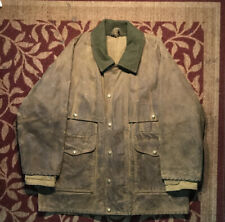 Vintage Filson Tin Cloth Packer Coat Waxed Double Sleeve CC Filson