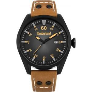 Mens Wristwatch TIMBERLAND BELLINGHAM TBL.15025JSB/02A Leather Brown Black