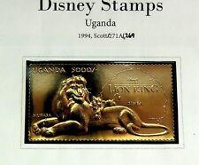 """UGANDA 1994 DISNEY CARTOON """"THE LION KING"""" MNH STAMP"""