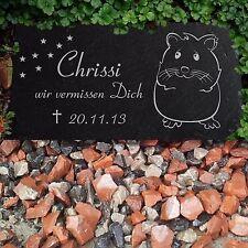 """Hamster Grabstein Grabplatte Gedenkstein Hamster-501 â–º Wunsch Gravur â—"""" 20x10 cm"""