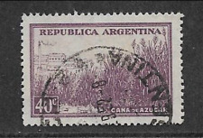 ARGENTINE POSTAL ISSUE - COUNTRY PRODUCT USED 40c DEFINITIVE 1936 - SUGAR CANE