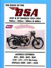 BSA SHOP MANUAL SERVICE REPAIR BOOK OF CLYMER HAYNES CHILTON SINGLE MOTORCYCLE