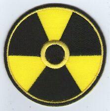 ECUSSON PATCHE THERMOCOLLANT SYMBOLE RADIOACTIVITE RADIOACTIF NUCLEAIRE