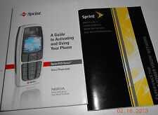 SPRINT GUIDE To ACTIVATE NOKIA 6016i PHONE & SPRINT POWER VISION NETWORK Book