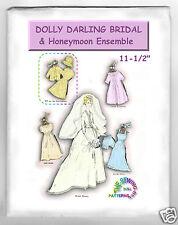 "Dolly Darling Doll Wardrobe Pattern Bride Ensemble Fits Barbie Dolls 11-1/2"""