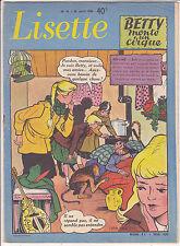 Lisette N°16 du 20 avril 1958 Solveg, Yvan Marié, Marti, Gellens, Erik