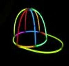 MULTI-COLOR GLOW BASEBALL CAP HAT GLOW STICKS NIGHT PARTY FESTIVALS CAMPING HEN